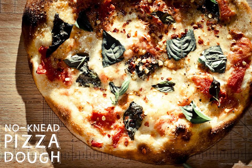 No Knead Pizza Dough Recipe I Am A Food Blog I Am A Food Blog