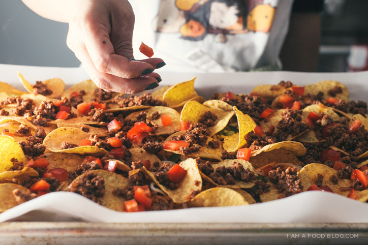 sriracha beef nacho recipe - www.iamafoodblog.com