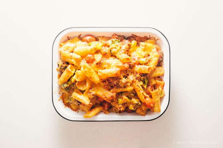 broccoli sausage pasta bake recipe - www.iamafoodblog.com