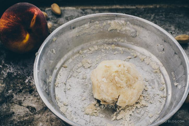 peach pistachio galette recipe - www.iamafoodblog.com