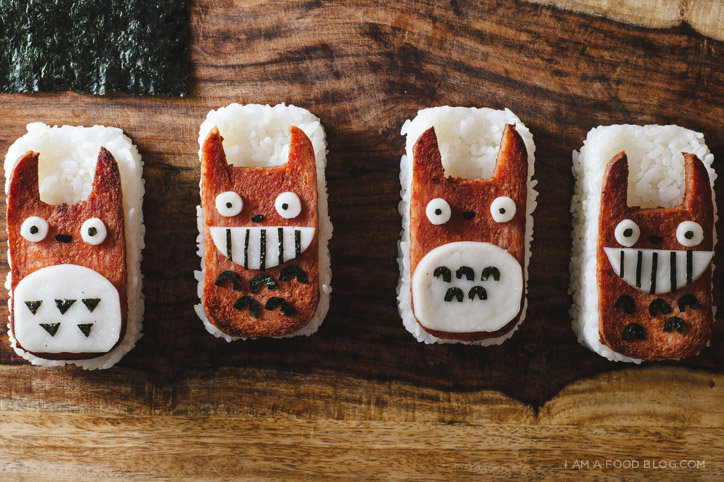 totoro spam musubi recipe - www.iamafoodblog.com