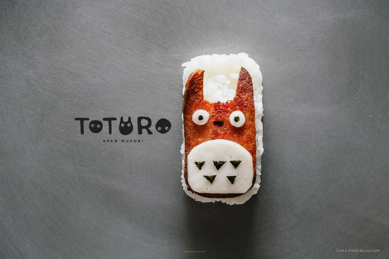 totoro spam musubi - www.iamafoodblog.com