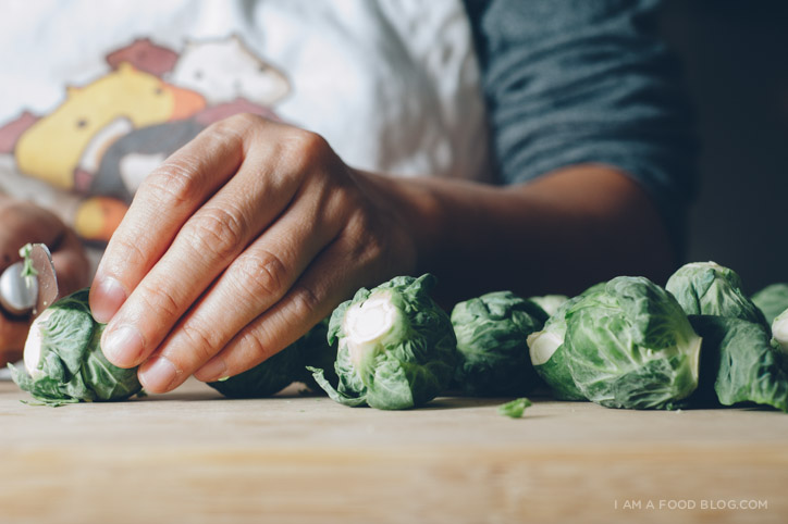 oven roasted brussel sprouts with fish sauce recipe - www.iamafoodblog.com