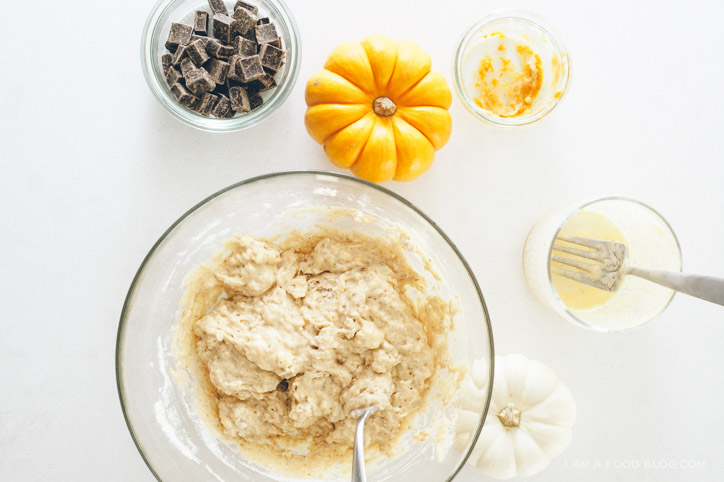pumpkin chocolate pancake recipe - www.iamafoodblog.com