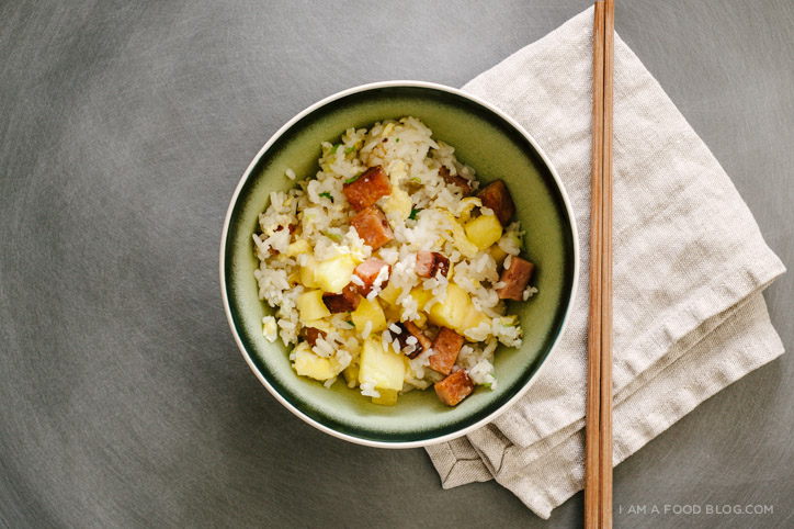 spam and pineapple fried rice - www.iamafoodblog.com