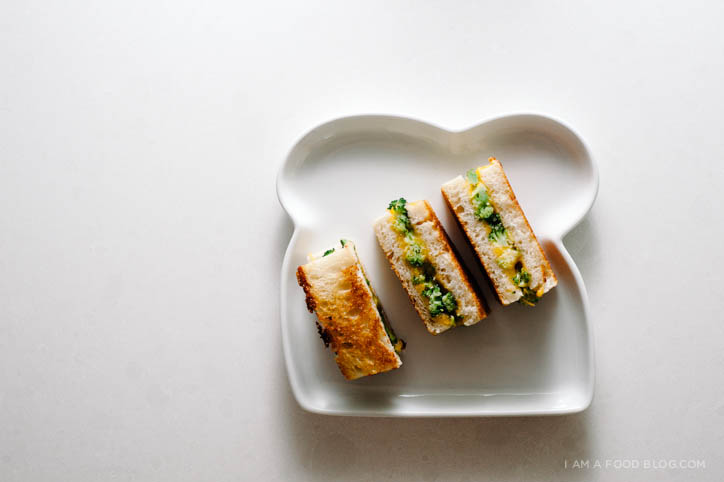 broccoli & cheddar grilled cheese - www.iamafoodblog.com
