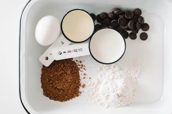 Recipe for a chocolate mug cake
