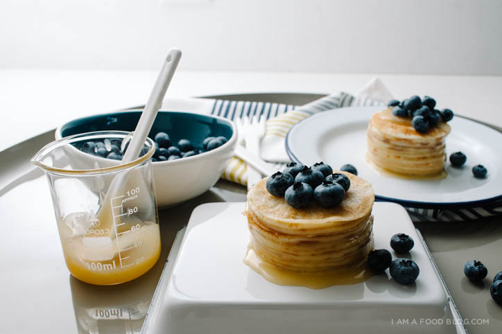 Blueberry Lemon Mini Crêpe Cake Recipe - www.iamafoodblog.com