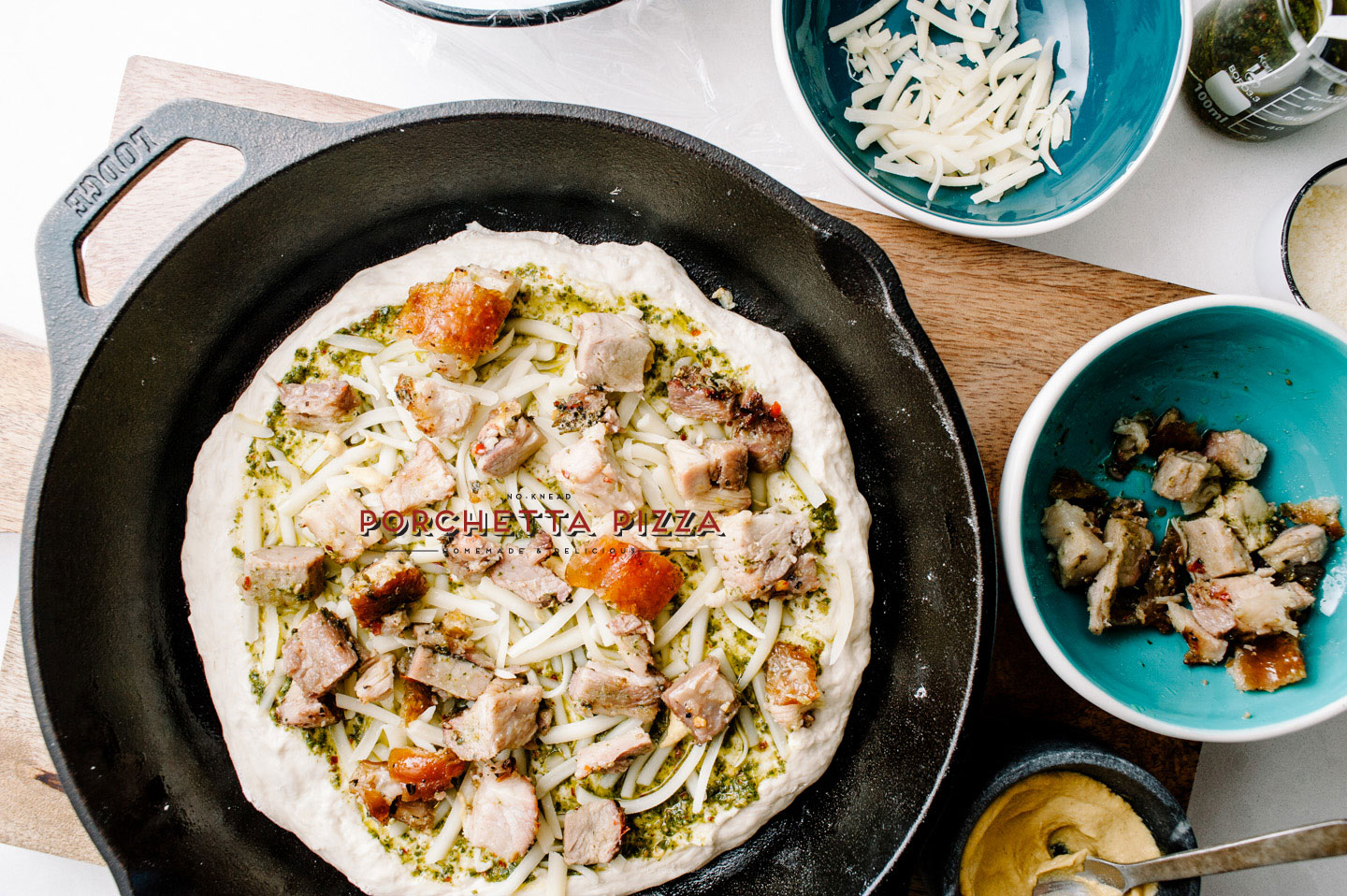 porchetta pizza recipe - www.iamafoodblog.com