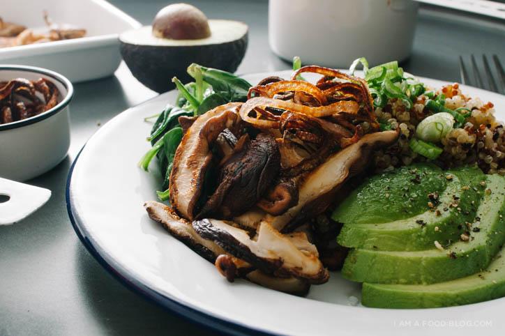 Shiitake Quinoa Salad Recipe - www.iamafoodblog.com