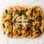 shrimp asparagus pizza recipe - www.iamafoodblog.com