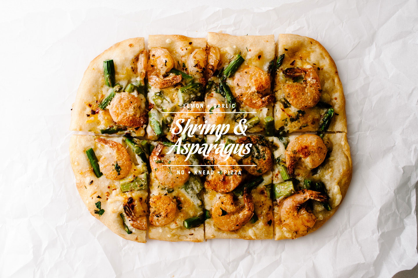 shrimp asparagus pizza recipe - www.iamafoodblog.com