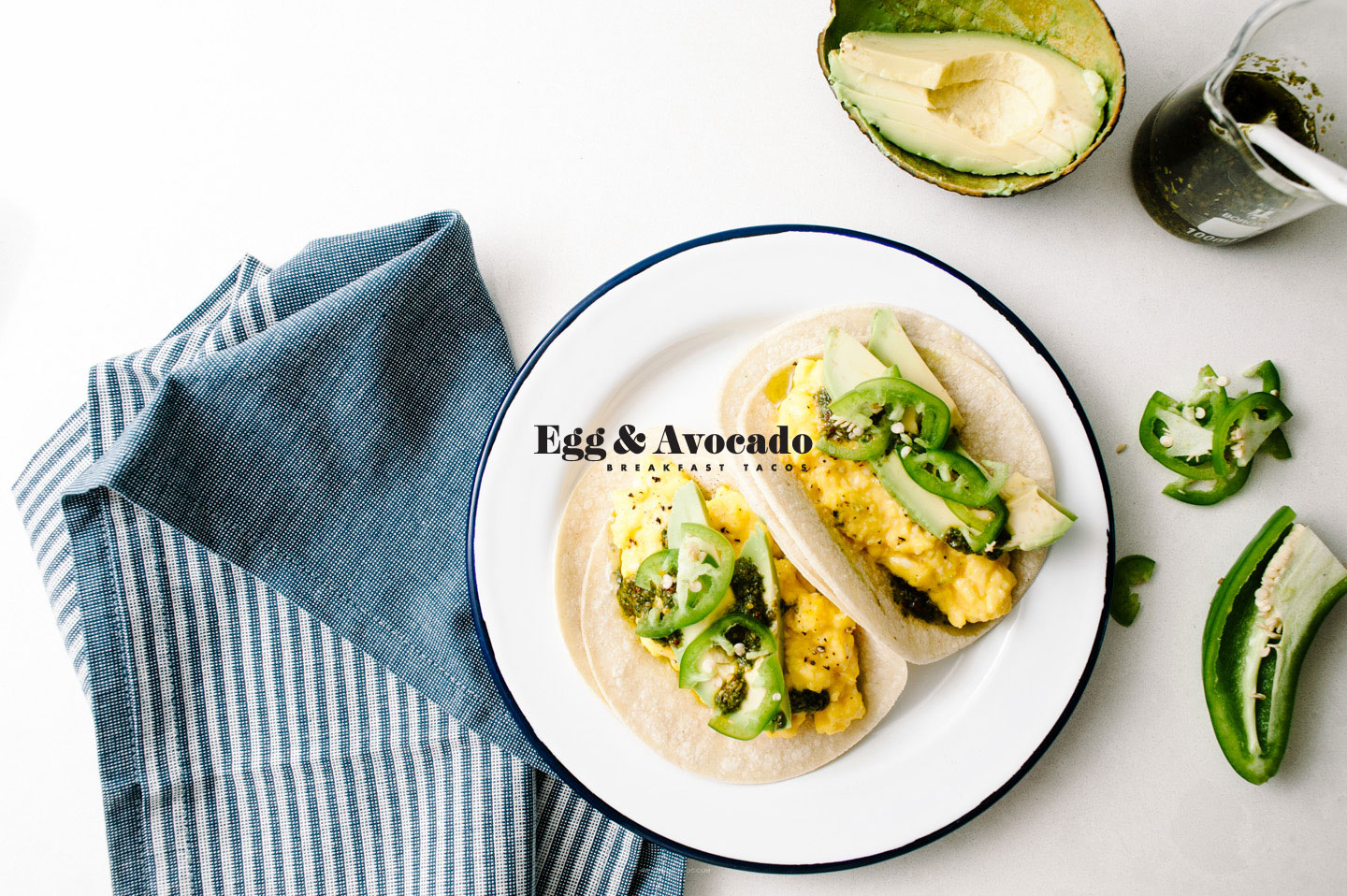 easy egg and avocado breakfast tacos - www.iamafoodblog.com