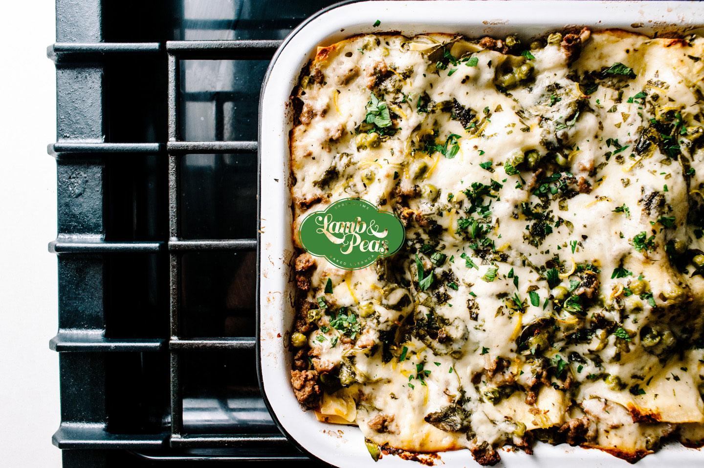 lamb and pea lasanga - www.iamafoodblog.com