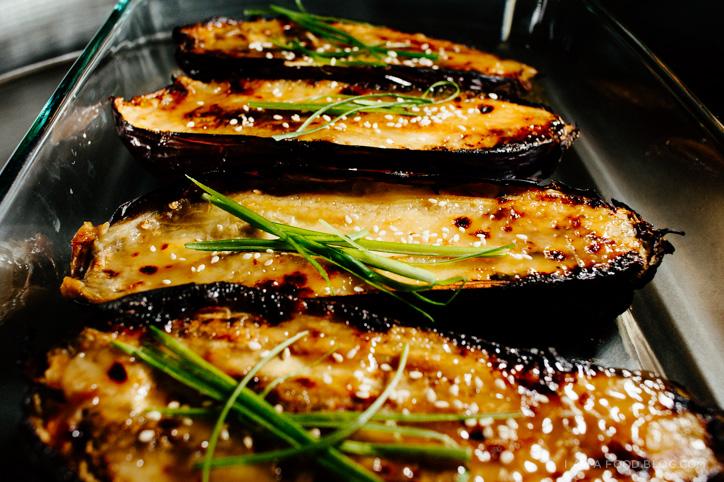 miso caramelized eggplant recipe - www.iamafoodblog.com