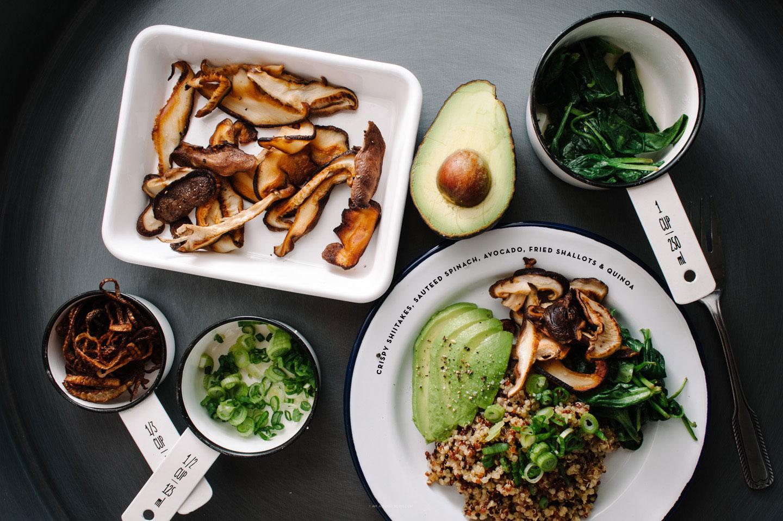 shiitake quinoa salad - www.iamafoodblog.com