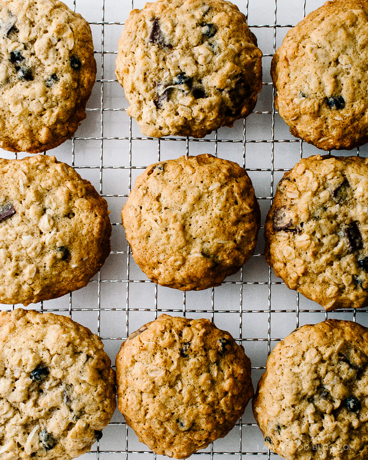 blueberry, coconut, dark chocolate oat cookie recipe - www.iamafoodblog.com