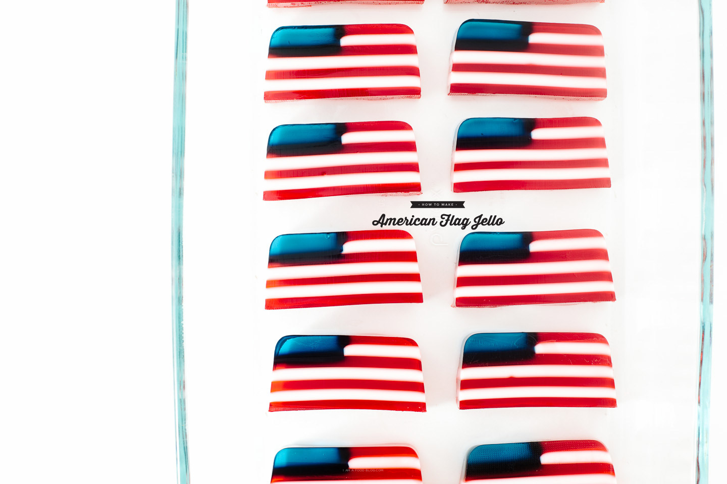 flag jello recipe - www.iamafoodblog.com