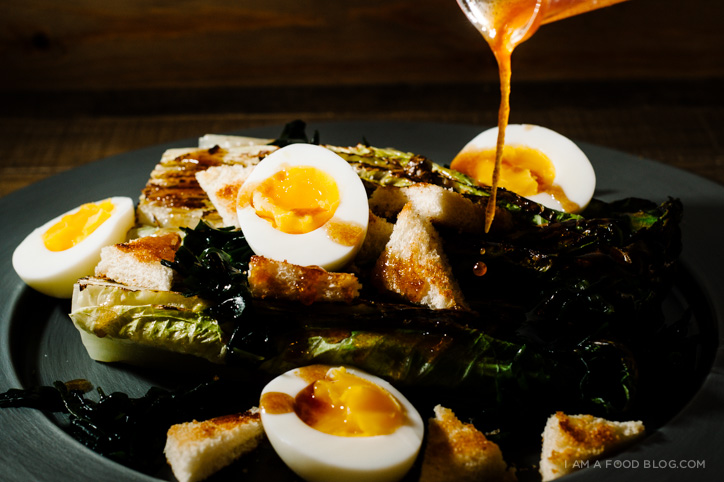 grilled romaine salad recipe - www.iamafoodblog.com