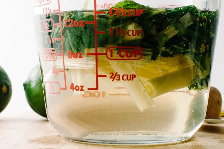 lemongrass mint spritzer recipe - www.iamafoodblog.com