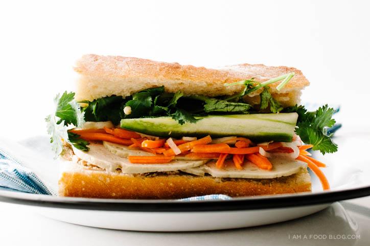 banh mi sandwich recipe - www.iamafoodblog.com