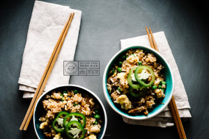 pulled pork fried rice recipe - www.iamafoodblog.com