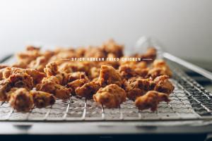 spicy popcorn chicken recipe - www.iamafoodblog.com