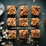 coconut almond rice krispies - www.iamafoodblog.com