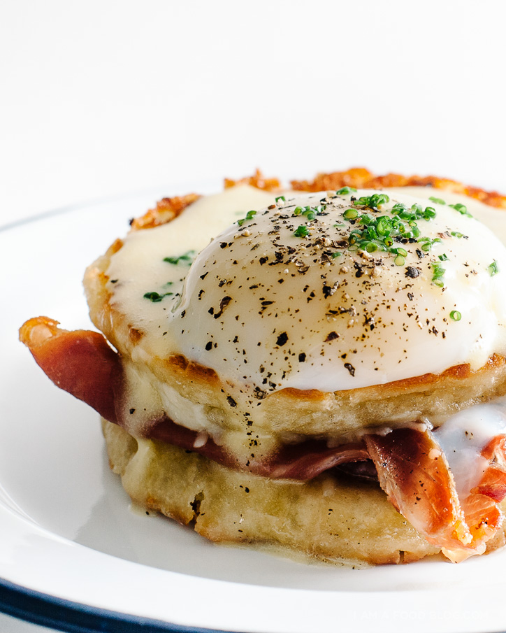 grilled cheese eggs benny recipe - www.iamafoodblog.com