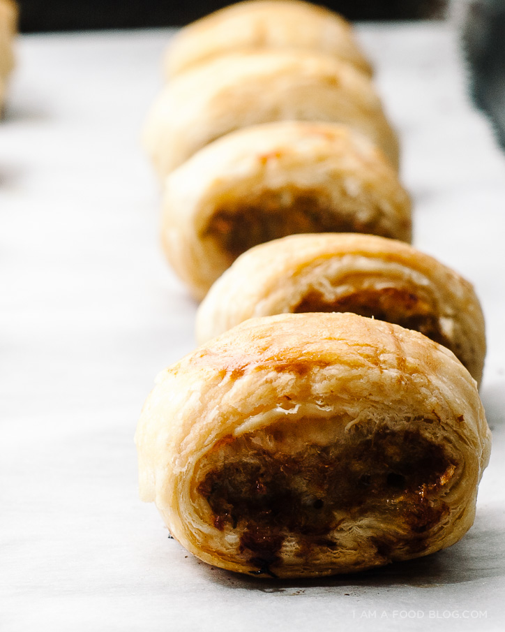 spicy sausage roll recipe - www.iamafoodblog.com