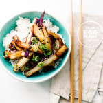 honey garlic eggplant recipe - www.iamafoodblog.com
