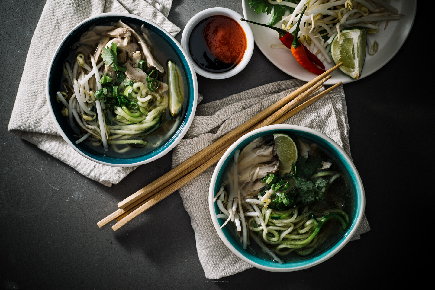 chicken pho with zucchini noodles recipe - www.iamafoodblog.com