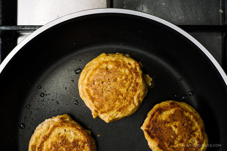 pumpkin ricotta pancakes - www.iamafoodblog.com