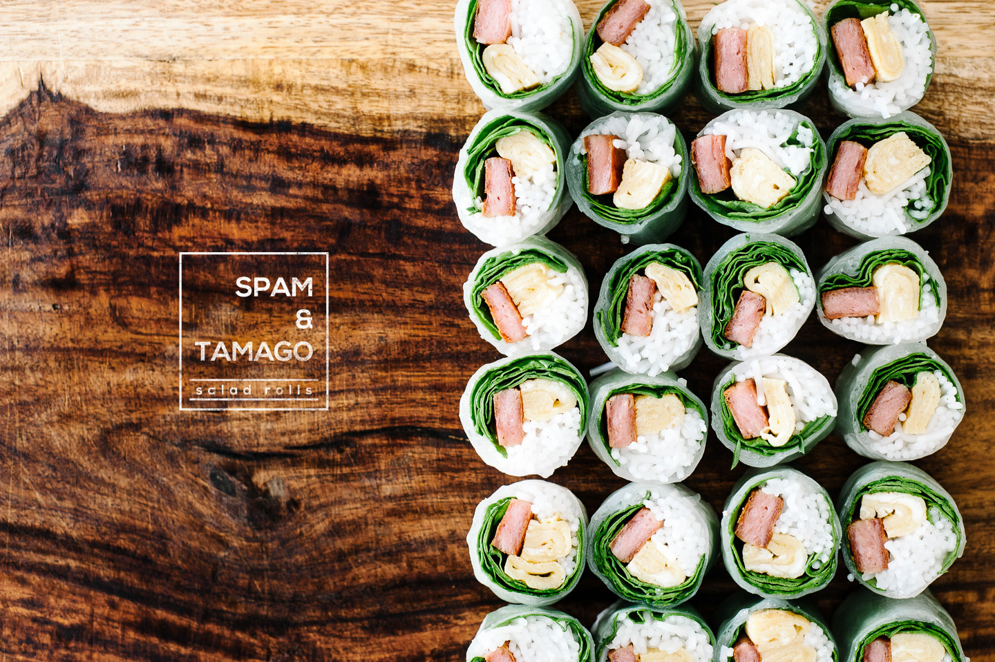 spam and egg salad roll recipe - www.iamafoodblog.com