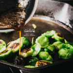 honey garlic sprouts recipe - www.iamafoodblog.com