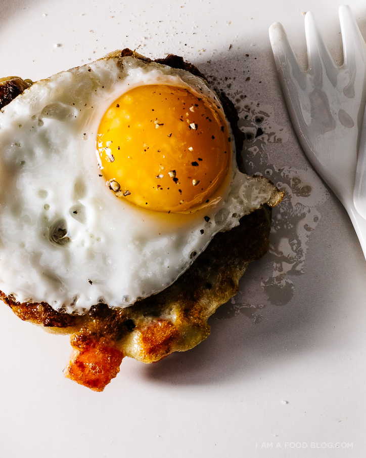 crispy stuffing cakes with quail eggs - www.iamafoodblog.com