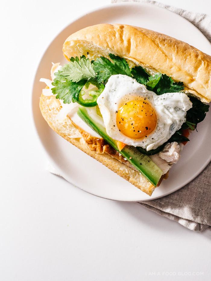 egg and turkey breakfast banh mi recipe - www.iamafoodblog.com