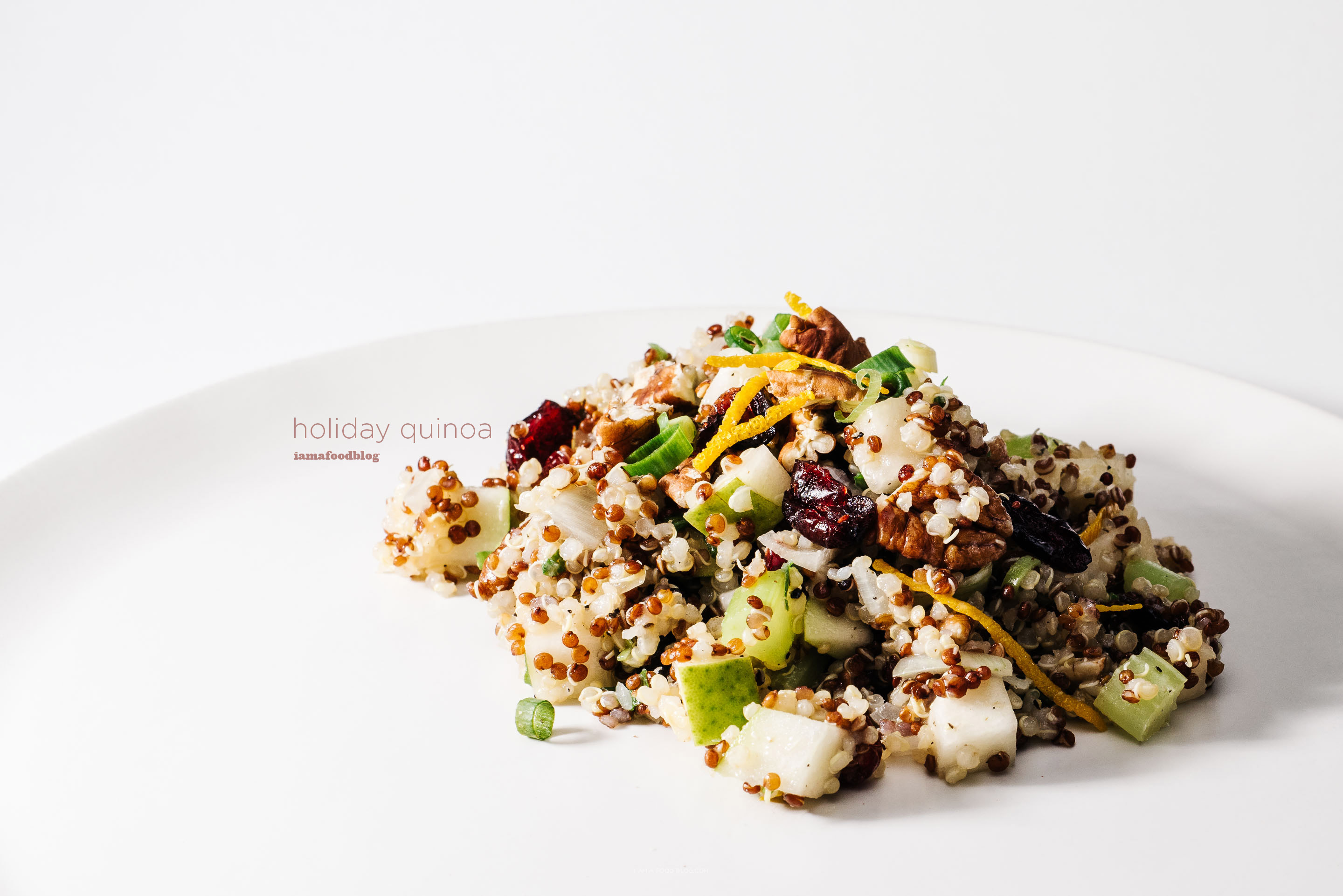 sweet side dish: christmas quinoa salad recipe - www.iamafoodblog.com