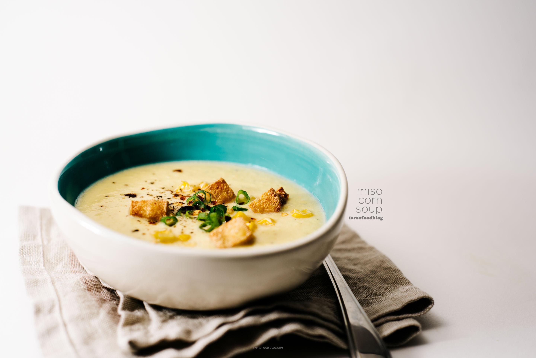 miso corn soup recipe - www.iamafoodblog.com