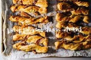 jalapeño bacon puff pastry cheese twists recipe - www.iamafoodblog.com