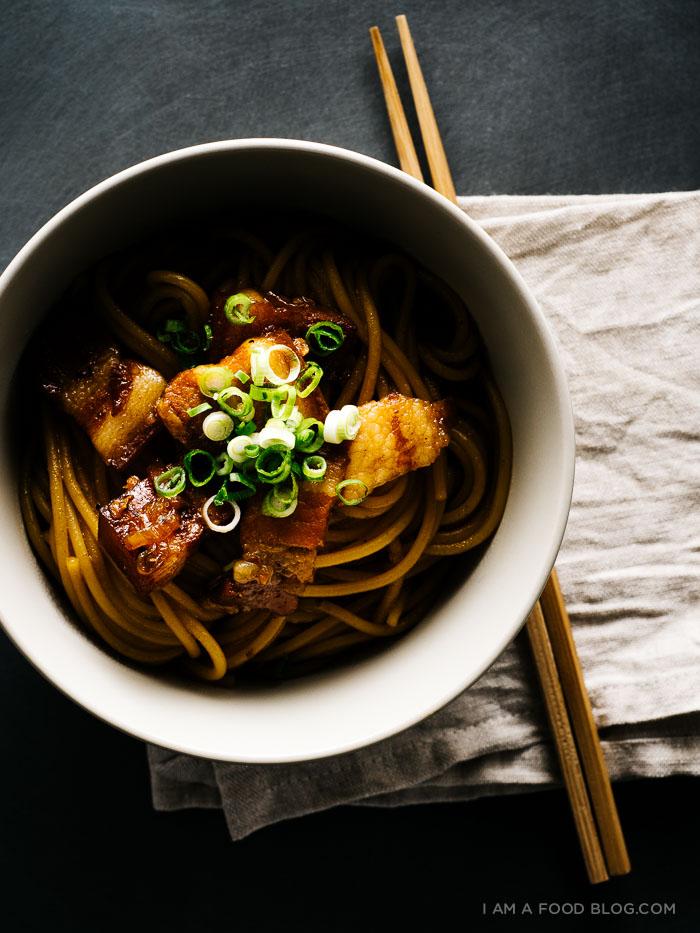 vietnamese caramelized pork belly pasta recipe - www.iamafoodblog.com