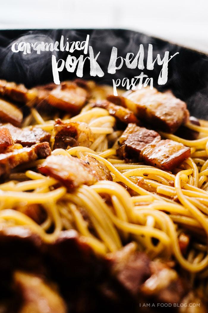 Vietnamese Caramelized Pork Belly Pasta Recipe