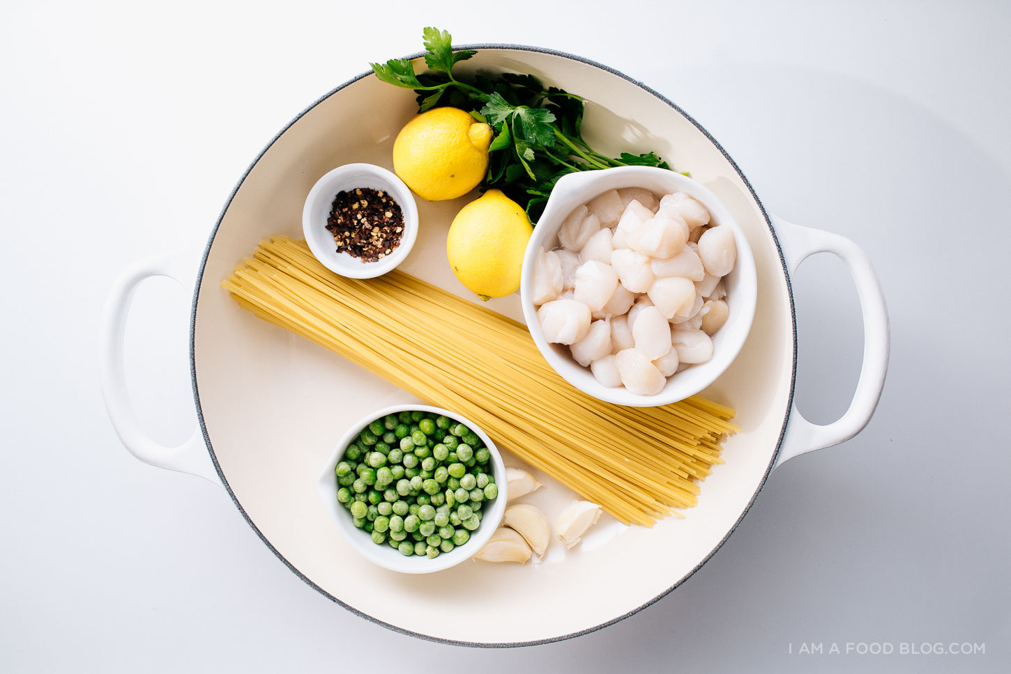 one pot lemon scallop pasta recipe - www.iamafoodblog.com