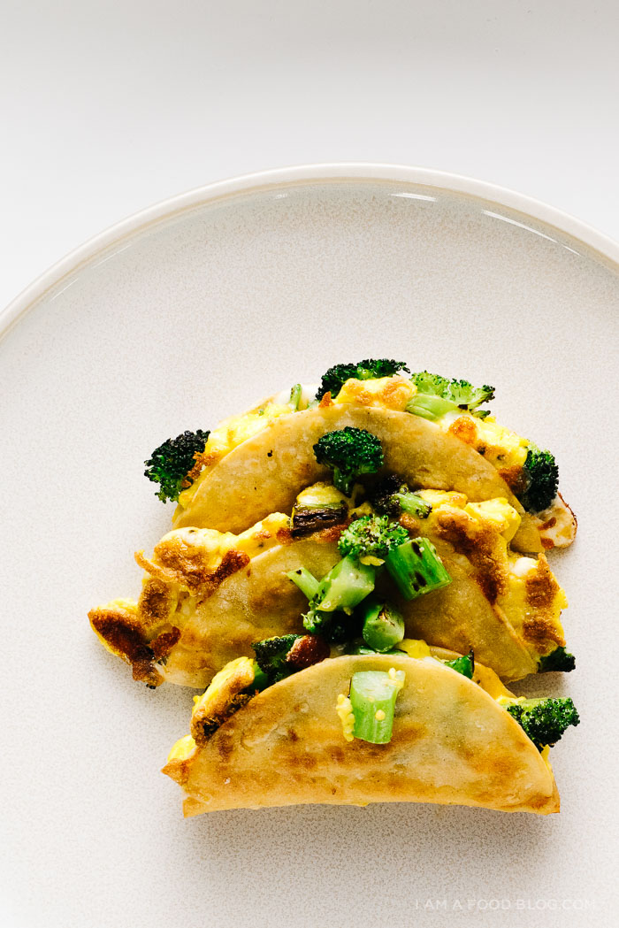 Breakfast Quesadillas with Broccoli, Cheddar and Eggs · i ...