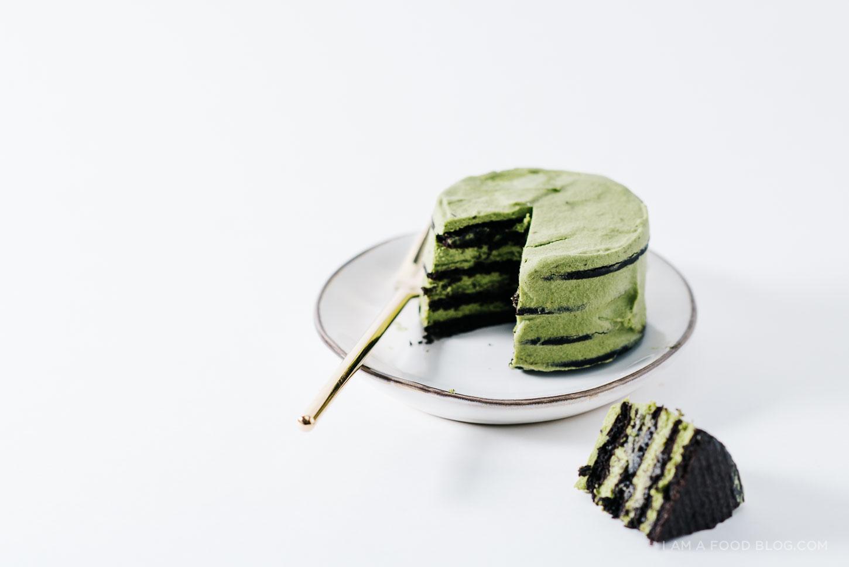 mini matcha ice box cake - www.iamafoodblog.com