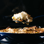 shepherd's pie with roasted garlic cream cheese mashed potatoes Recipe - www.iamafoodblog.com