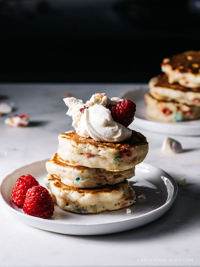 fruity pebble pancake recipe - www.iamafoodblog.com