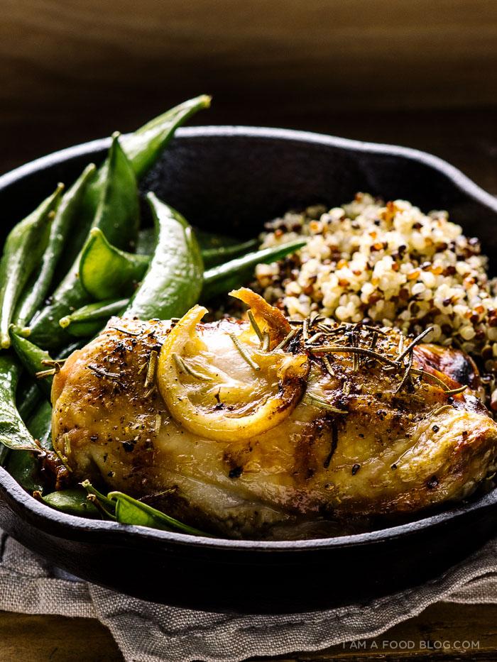lemon rosemary roast chicken thighs recipe - www.iamafoodblog.com