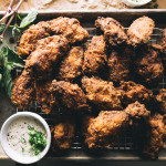 buttermilk fried chicken wings recipe - www.iamafoodblog.com