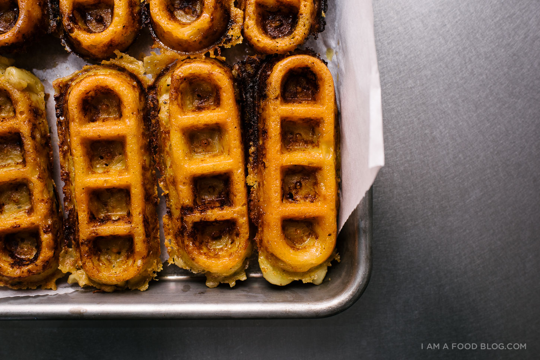 mac and cheese waffles - www.iamafoodblog.com